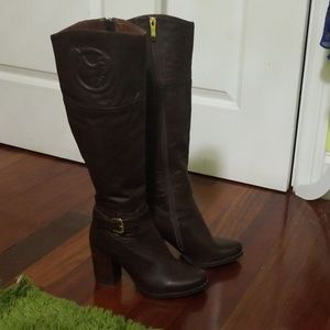 Leather boots **like new!**, StyleMax, high-heeled